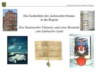 Sächsisches Staatsarchiv, Staatsarchiv Chemnitz
