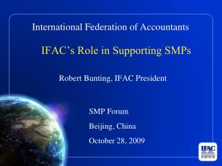 IFAC's Role in Supporting SMPs