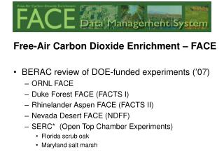 Free-Air Carbon Dioxide Enrichment – FACE
