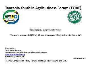 Tanzania Youth in Agribusiness Forum (TYIAF)