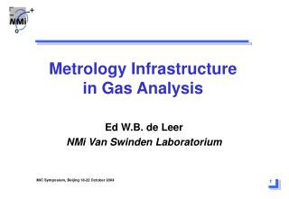 Metrology Infrastructure in Gas Analysis