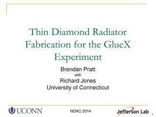 Thin Diamond Radiator Fabrication for the GlueX Experiment