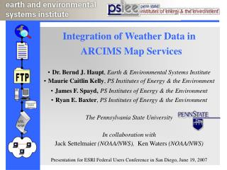Integration of Weather Data in ARCIMS Map Services