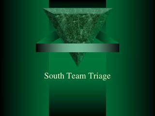 South Team Triage