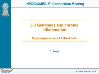 6.3 Genomics and chronic inflammation Pseudonymisation of Patient Data