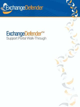 Support Portal Walk-Through