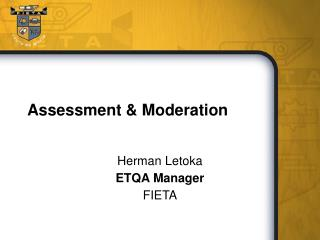 Assessment  Moderation