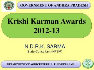 Krishi Karman Awards 2012-13