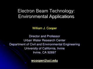 Electron Beam Technology: Environmental Applications