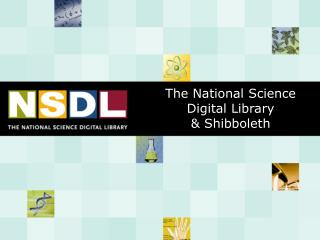 The National Science Digital Library  & Shibboleth