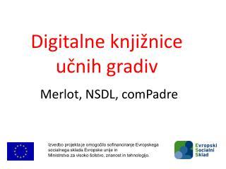 Digitalne knjižnice učnih gradiv