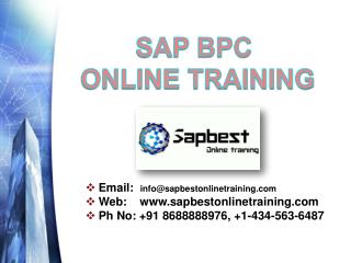 Sap bpc online training | sap bpc ppt | sap bpc var 10 ppt