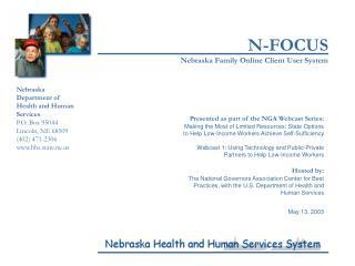 N-FOCUS Nebraska Family Online Client User System