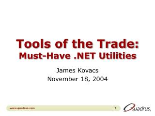 Tools of the Trade: Must-Have .NET Utilities