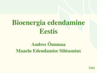 Bioenergia edendamine Eestis