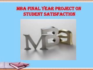 MBA Final Year Project