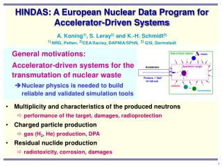 General motivations:  Accelerator-driven systems for the transmutation of nuclear waste