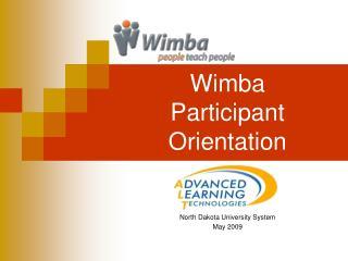 Wimba  Participant Orientation