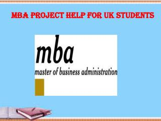 MBA Project Help for UK students
