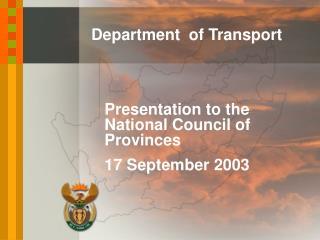 National Department of Transport (NDOT)