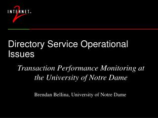 Directory Service Operational Issues