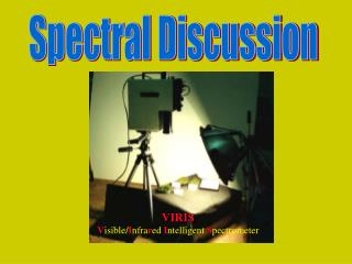 Spectral Discussion