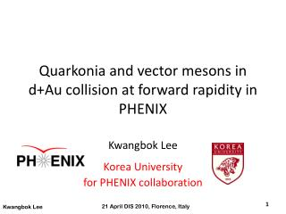Quarkonia  and vector mesons in  d+Au  collision at forward rapidity in PHENIX