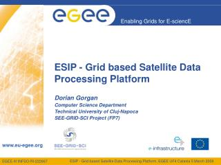 ESIP - Grid based Satellite Data Processing Platform