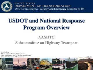USDOT and National Response Program Overview
