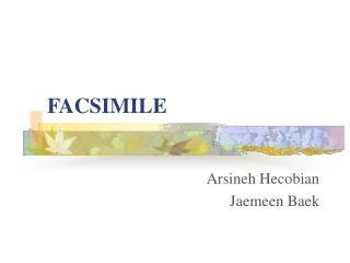 FACSIMILE