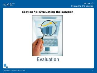 Section 15: Evaluating the solution