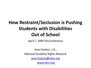How Restraint/Seclusion is Pushing Students with Disabilities  Out of School