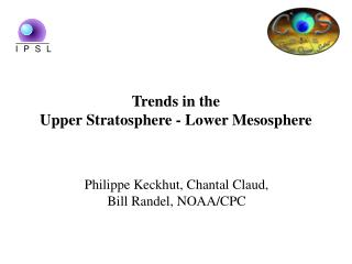 Trends in the  Upper Stratosphere - Lower Mesosphere