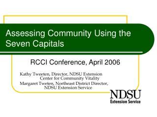 Assessing Community Using the Seven Capitals
