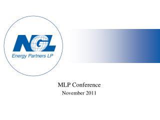MLP Conference November 2011