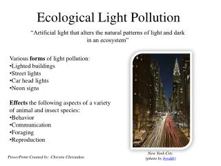 Ecological Light Pollution