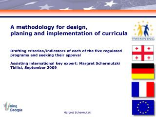 A methodology for design,  planing and implementation of curricula