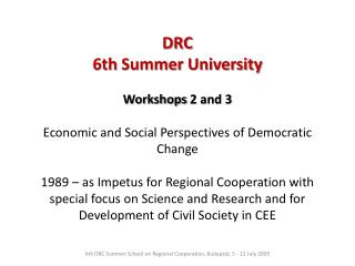 DRC  6th  Summer  University