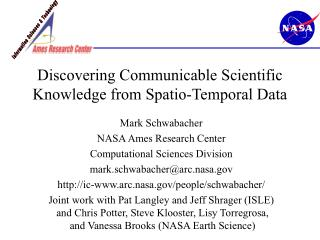 Discovering Communicable Scientific Knowledge from Spatio-Temporal Data