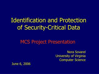 Identification and Protection of Security-Critical Data