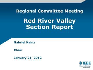 Gabriel Kainz Chair January 21, 2012