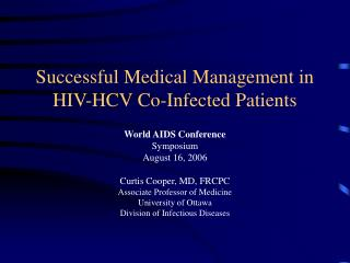 Successful Medical Management in HIV-HCV Co-Infected Patients