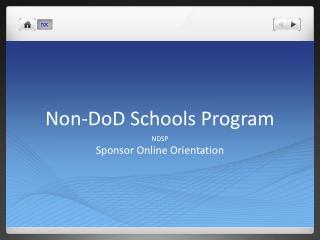 Non-DoD Schools Program