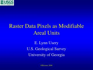 Raster Data Pixels as Modifiable Areal Units