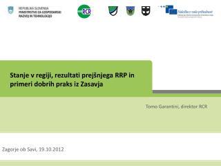 Stanje v regiji, rezultati prejšnjega RRP in primeri dobrih praks iz Zasavja