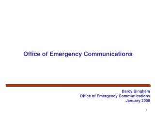 Office of Emergency Communications