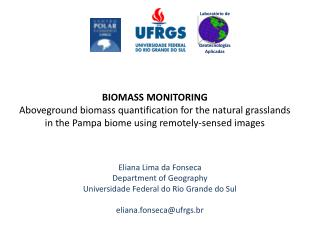 Eliana Lima da Fonseca Department of Geography  Universidade Federal do Rio Grande do Sul