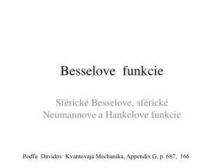 Besselove  funkcie