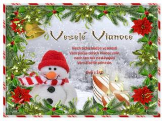Nech tichá hudba veselosti Vám počas celých Vianoc znie, nech ten rok nastávajúci