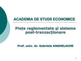 ACADEMIA DE STUDII ECONOMICE